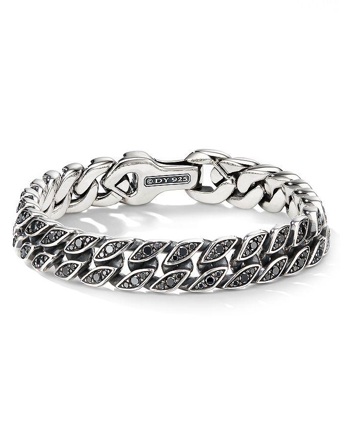 David Yurman - Curb Chain Bracelet with Black Diamonds