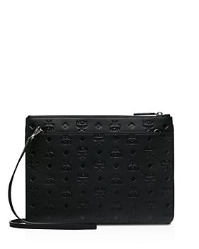 MCM - Klara Embossed Leather Crossbody