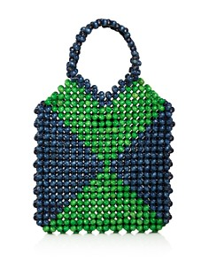 AQUA - Mini Wood Beaded Tote - 100% Exclusive