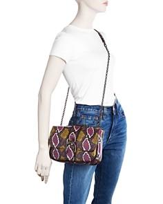 Longchamp -  Amazone Small Multicolor Phython Leather Shoulder Bag