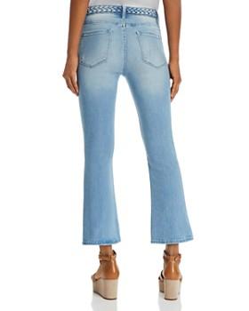 FRAME - Le Crop Mini Bootcut Braided-Waist Jeans in Fountain