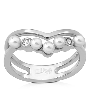 Majorica Accessories SIMULATED PEARL ROUND RING