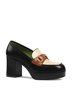 Gucci - Women's Horsebit Platform Loafers