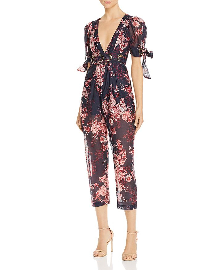 Alice McCall - Everything Plunging Floral Jumpsuit