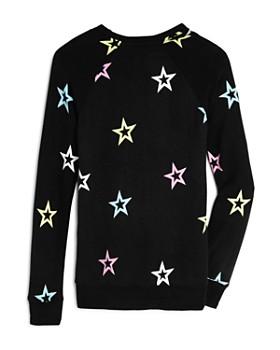 Flowers by Zoe - Girls' Star Cutout-Neck Sweatshirt - Big Kid