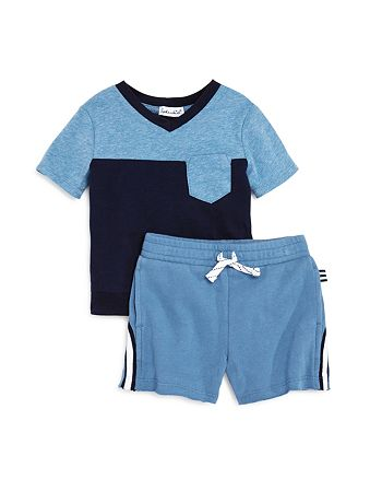 Splendid - Boys' Color-Block Tee & Sweatshorts Set - Baby