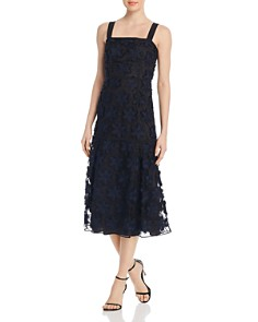 PAULE KA - Floral Lace Midi Dress