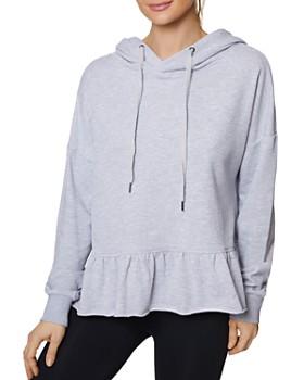 Betsey Johnson - Peplum Hooded Sweatshirt