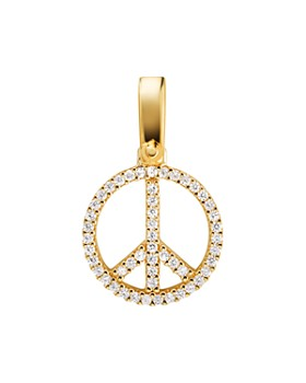 Michael Kors - Pavé Peace Charm in 14K Gold-Plated Sterling Silver