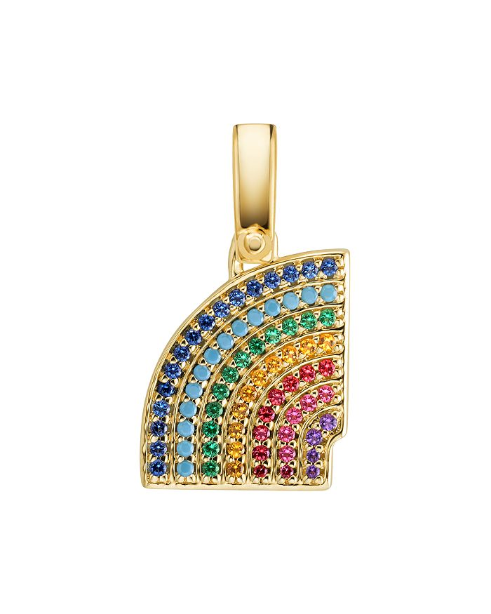 dfad6229014f Michael Kors - Pavé Rainbow Charm in 14K Gold-Plated Sterling Silver