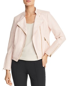Calvin Klein - Faux-Leather Moto Jacket