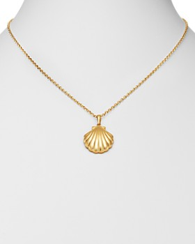 "Moon & Meadow - Shell Pendant Necklace in 14K Yellow Gold, 22"" - 100% Exclusive"