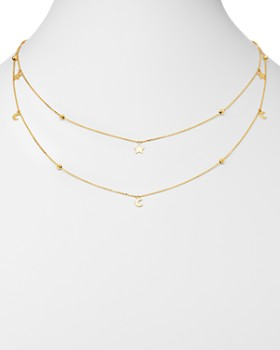 """Moon & Meadow - Double-Strand Star & Moon Station Necklace, 22"""" - 100% Exclusive"""