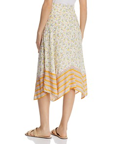 Lost and Wander - Marilyn Mixed-Print Floral Midi Skirt