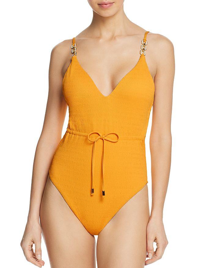 Trina Turk - Cabana Solids V-Plunge One Piece Swimsuit