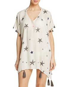 Surf Gypsy - Beaded Star Print Dress Swim Cover-Up