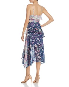 AQUA - Mixed Floral Midi Dress - 100% Exclusive