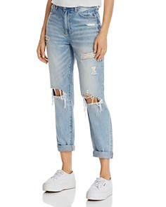 Pistola - Presley Vintage Roller High-Rise Straight Jeans in Come On