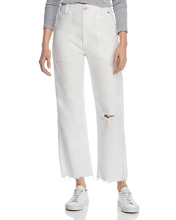rag & bone - Kaye High-Rise Wide-Leg Chino Pants