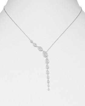 Bloomingdale's - Pavé Diamond Asymmetric Y-Necklace in 14K White Gold, 1.0 ct. t.w. - 100% Exclusive