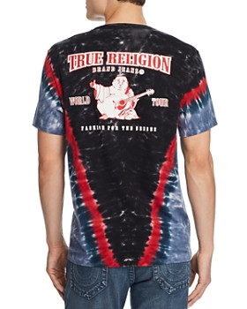 True Religion - Tie-Dyed Logo Graphic Tee