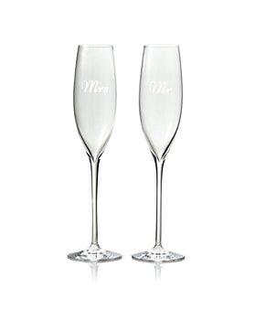 Waterford - Mr. & Mrs. Elegance Flutes, Set of 2 - 100% Exclusive