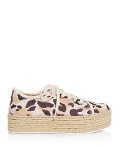 SCHUTZ - Women's Luana Leopard-Print Low-Top Espadrille Platform Sneakers