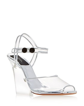 MARC JACOBS - Women's Transparent High-Heel Wedge Sandals
