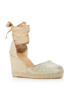 Castañer - Women's Carina Ankle-Tie Espadrille Wedge Sandals