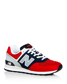 New Balance - Men's 574 Mixed-Media Low-Top Sneakers
