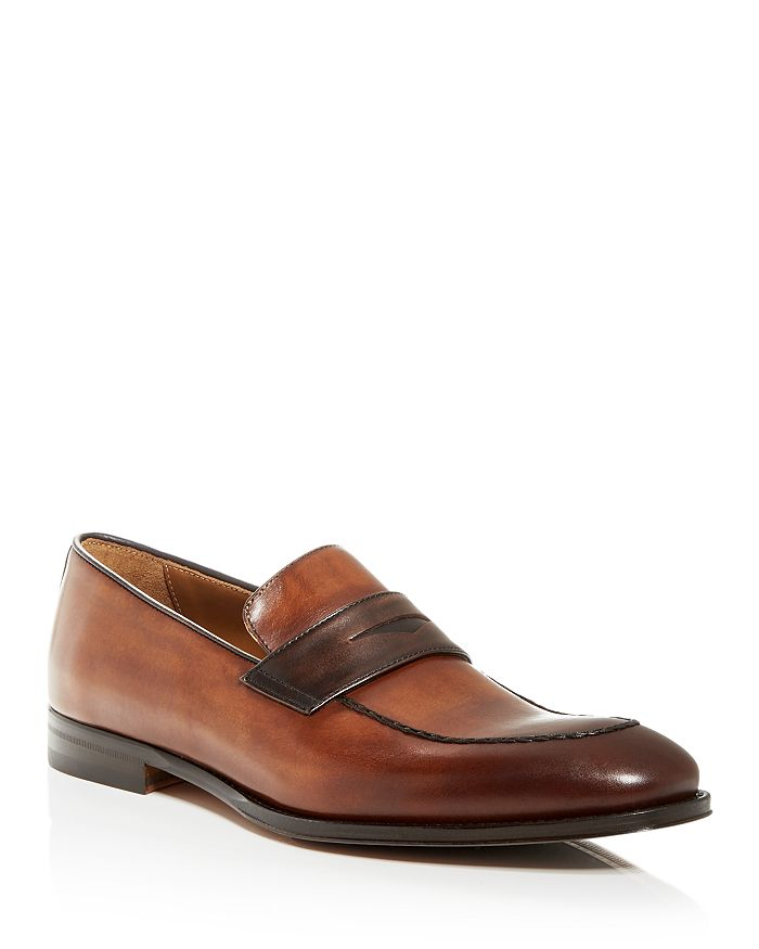 Bruno Magli - Men's Fanetta Leather Apron-Toe Penny Loafers