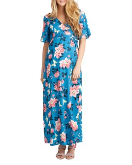 Nom Maternity - Landon Floral-Print Maxi Nursing Dress