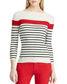 Ralph Lauren - Striped Rib-Knit Sweater