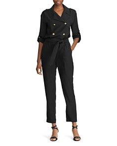 Ralph Lauren - Double-Breasted Belted Jumpsuit
