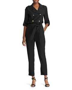 9392be1d5c6 Ralph Lauren Double-Breasted Belted Jumpsuit - 100% Exclusive ...