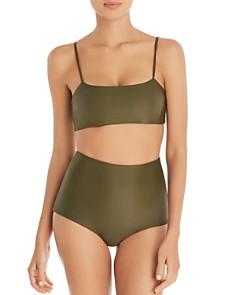 MIKOH - Kumu Bandeau Bikini Top & Menehune High-Waist Bikini Bottom