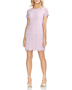 Vince Camuto Dresses SHORT-SLEEVE LACE SHIFT DRESS