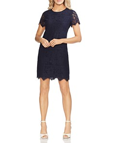 VINCE CAMUTO - Short-Sleeve Lace Shift Dress