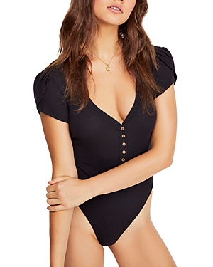 Free People Suits MIA BUTTON-FRONT BODYSUIT