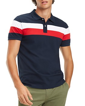 0d0ed59d Tommy Hilfiger - Chest-Stripe Regular Fit Polo Shirt ...