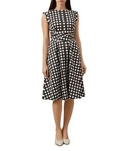 HOBBS LONDON - Eloise Tie-Waist Check Dress - 100% Exclusive