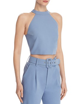 098d5b1381cb5f CHRISELLE LIM - Button-Back Cropped Top - 100% Exclusive ...