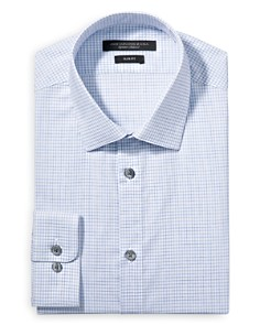 John Varvatos Star USA - Melange Check Slim Fit Dress Shirt