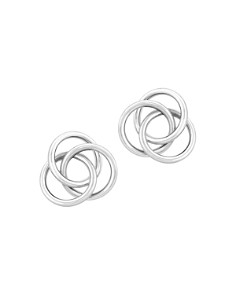 Bloomingdale's - Love Knot Stud Earrings in 14K White Gold - 100% Exclusive
