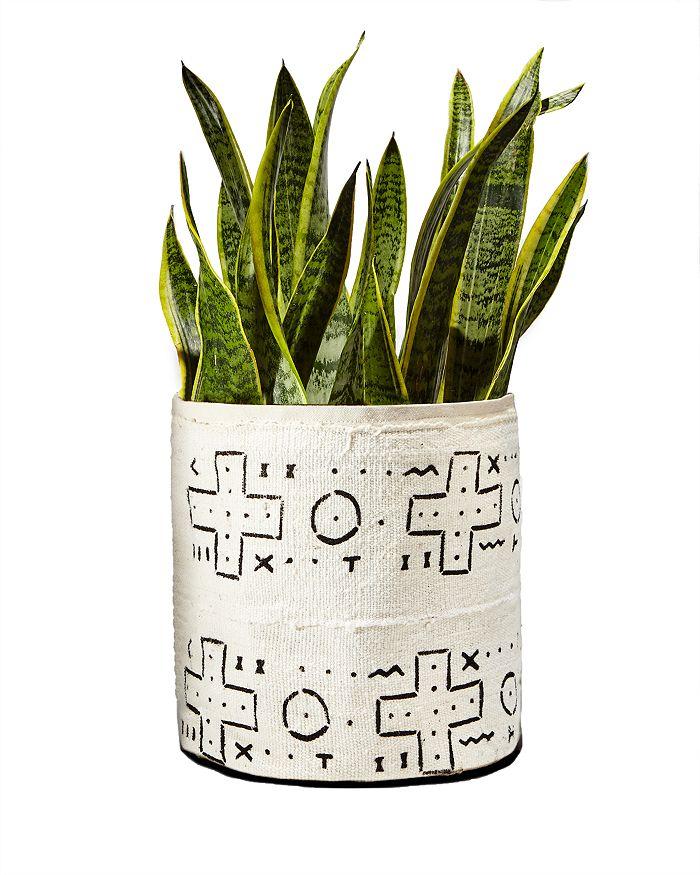 Plant Sax - Mud Cloth Sax Plant Vessel