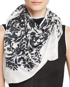 Max Mara - Brushstroke Floral Silk Scarf