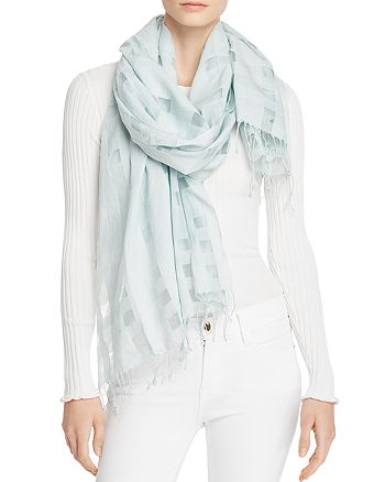 Eileen Fisher - Semi-Sheer Gingham Scarf
