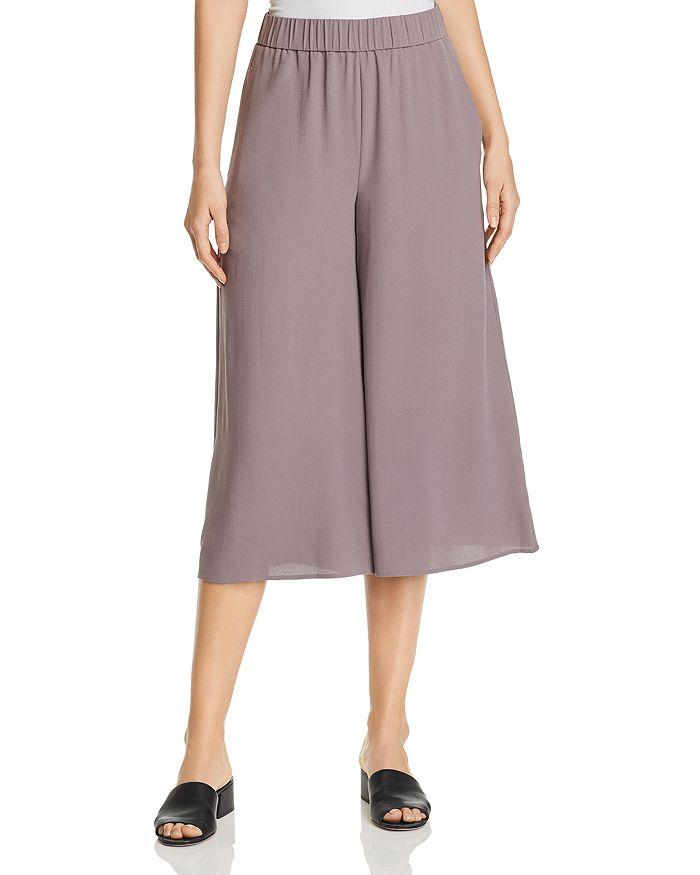 Petites - Wide-Leg Silk Culottes