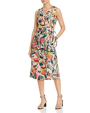 Lafayette 148 New York Pammie Printed Wrap Dress