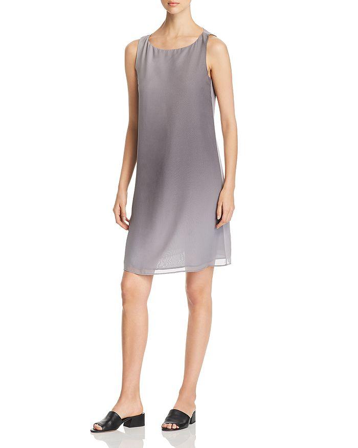 Eileen Fisher Petites - Sleeveless Silk Ombré Dress